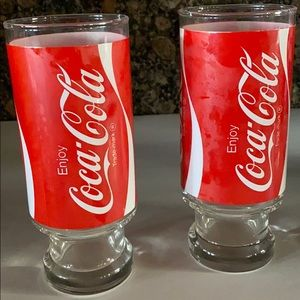Other - Two Vintage drinking glasses Coca-Cola